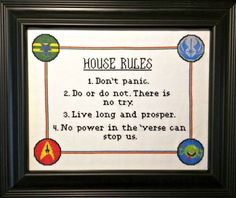 House rules for nerds
