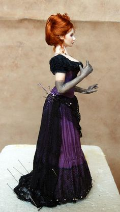 Draping miniature dolls