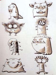 Elina Ellis Illustration - Monsters