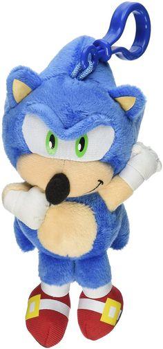 "Sonic The Hedgehog 4"" Talking Plush Clip On Sonic"