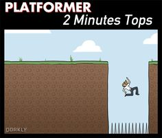 Dorkly Comic: How Long You'd Last if Your Favorite Games Were Real  2 minutes survival on a platformer is being waaaay more generous than I deserve...