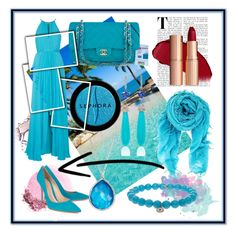 """Blue attitude #forLauren"" by victor-comanescu on Polyvore featuring beauty, Universal Lighting and Decor, NARS Cosmetics, Badgley Mischka, Gianvito Rossi, Chanel, Sephora Collection, Chan Luu, Ippolita and Sydney Evan"
