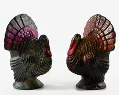 Vintage Gurley Turkey Candle Thanksgiving Decor by GizmoandHooHa