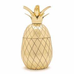 Brass Pineapple Tumber - Hattan Home - 4