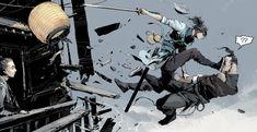 257 by Su Jian : ImaginaryAdrenaline Comic Style Art, Comic Art, Drawing Reference Poses, Drawing Poses, Fighting Drawing, Arte Indie, Samurai Artwork, Fighting Poses, Comic Layout