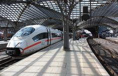 An ICE train inside the Cologne main railway station. 5 Star Hotels, Best Hotels, Ice Zug, Excelsior Hotel, Most Luxurious Hotels, Cologne Germany, Michelin Star, Ancient Ruins, Gothic Architecture