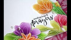 Emboss Resist Ink Blended Floral Card Using Spring Flowers