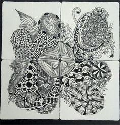 zentangle inspired art work. ©DiAnne Ferrer 2012