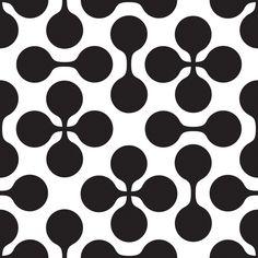 Black and White Clover Pattern - Art Print by Oscar Lind Modin Corset Sewing Pattern, Pattern Design, Pattern Art, Abstract Sculpture, Op Art, Art Sketchbook, Textures Patterns, Design Elements, Screenprinting