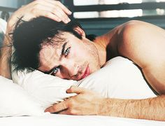 Ian Somerhalder Ok yeah Could not choose a better face to wake up beside to! Sooooo ouffff