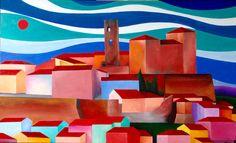 """Borgo antico"" acrilico su tela 100x60 (2015)"