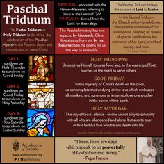 What is the Paschal Triduum? #triduum #holyweek #lent