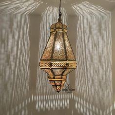 Modern Moroccan Moroccan Floor Lamp, Moroccan Pendant Light, Moroccan Lighting, Hanging Lanterns, Hanging Lights, Hanging Light Fixtures, Ceiling Decor, Ceiling Lights, Bedroom Ceiling
