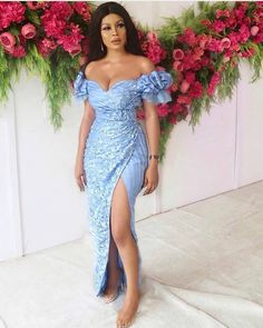 Nigerian Lace Styles Dress, Aso Ebi Lace Styles, Lace Gown Styles, African Lace Styles, Latest African Fashion Dresses, African Dresses For Women, African Print Dresses, African Print Fashion, African Attire