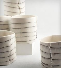 Striped Porcelain Cup | Home Dining & Barware | BTW Ceramics | Scoutmob Shoppe | Product Detail