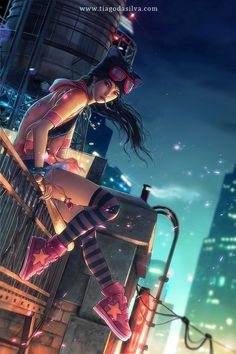 Digital Art by Tiago da Silva - Cruzine Arte Cyberpunk, Cyberpunk Girl, Cyberpunk Aesthetic, Cyberpunk 2077, Cyberpunk Tattoo, Cyberpunk Anime, Cyberpunk Clothes, Art Manga, Art Anime