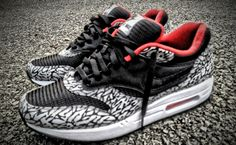Nike Air Max 1 Supreme Custom, from Mache. customs are usually overdone, but these are great. #Nike