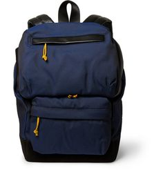 Alexander Wang Wallie Leather-Trimmed Canvas Backpack   MR PORTER