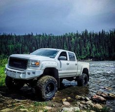 Lifted GMC 4x4 truck