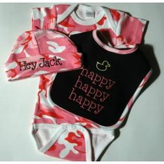 Baby Girl Duck Dynasty Outfit---love the bib My Baby Girl, Baby Love, Baby Girls, Baby Baby, Babies R, Cute Babies, Duck Dynasty Baby, Mike Wazowski, Everything Baby
