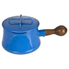 Dansk Porcelain Enamel Sauce Pan #huntersalley Vintage Enamelware, Kitchen Items, Utensils, Porcelain, Cabin Fever, Modernism, Scandinavian, Design, Accessories