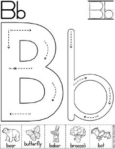 Worksheet Printable Abc Worksheets For Pre-k alphabet worksheets coloring and printable letters on pinterest abc worksheet letter b preschool activity standard