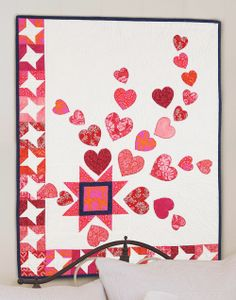 """Love Is in the Air"" by Bev Getschel (from The Quilter Magazine February/March 2014 issue)"