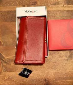 e4b087c8c56e Style   Co Womens Tri-Fold Red Clutch Wallet  fashion  clothing