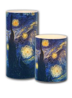 Galleria - Van Gogh Starry Night Candle 3 x 6 *** To view further for this item, visit the image link.