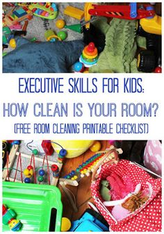 "Organizational Skills for Kids with a Printable ""Clean Room"" Checklist"