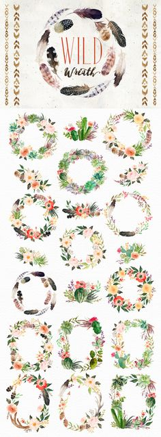 Watercolor Wild Wreath, by SalomeNJ #art_journal