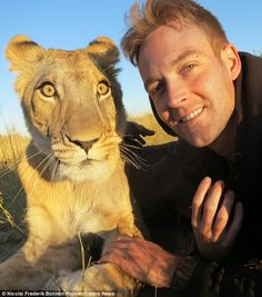 Mr Legarth, 30, said his bond with Sirga was just like as if she was part of his pride