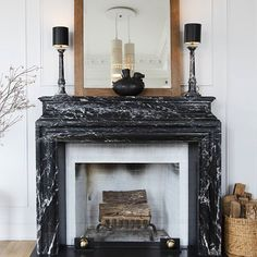 #TBT to @JeremiahBrent and our #NYC apartment #reno, with this 19th century marble mantel. The pottery was a piece we bought on a trip to Peru. Photo: @julieholderphotography  #NateBerkus #nycapartment #renovation #design #interiordesign #housetour #finditstyleit #home #house #apartment #pottery