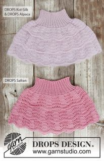 Knitted skirt with wave pattern, flounces and rib in DROPS Kid-Silk and DROPS Alpaca or DROPS Safran. Free knitting pattern by DROPS Design. Skirt Pattern Free, Crochet Skirt Pattern, Knit Skirt, Wave Pattern, Knitting For Kids, Crochet For Kids, Crochet Baby, Knit Crochet, Free Knitting