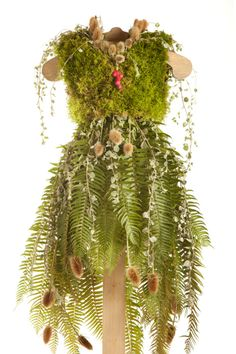 Gowns Pagan Wicca Witch: Faery #gown ~ Lena: Ferns, Moss, Thistles, Magnolia seed pod, Vines.