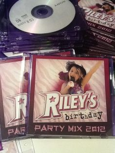 Cute rockstar CD favor #rockstar #birthday #partyfavor