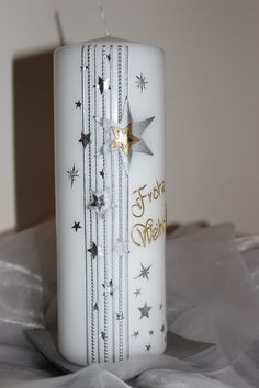 Wohndekoration - Weihnachtskerze - ein Designerstück von MyMagicWorld bei DaWanda
