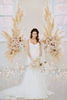 See Bridal Musings take on the latest Truly Zac Posen for David's Bridal, featuring this beautiful tank swoop neckline mermaid wedding dress | Photo by David Jenkins Photography and Pocketful of Dreams for Bridal Musings