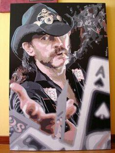 Lemmy. El As de espadas. Acrílico sobre bastidor 80x120 cms.