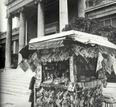 ۩ ۞ Athens, at Kolokotroni street,* 1965 Old Greek, Great Inventions, Word Pictures, Athens Greece, Kiosk, Greece Travel, Good Old, City, Places