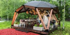 Wooden Gazebo Kits, Conceptual Model Architecture, Yurt Home, Geodesic Dome Homes, Dome Greenhouse, Tree House Plans, Dome House, Shade Structure, Pergola Shade