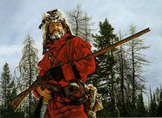 A Kentucky Black Powder Muzzleloader Long Rifle armed Mountain Man and Fur Trapper. http://www.gallery4collectors.com/images/MountainMan.jpg
