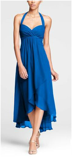Strapless Chiffon Dress with Layered Skirt in Persimmon. $139.00 ...