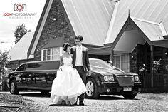 Black Chrysler limousine at Riverstone Estate with @ICONPHOTOSMEL