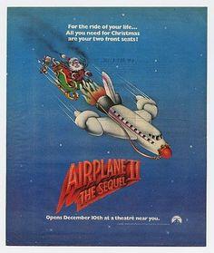 1982 Airplane II 2 The Sequel Santa Movie Promo Ad