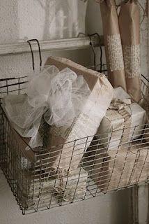 hanging basket on ladder. great idea