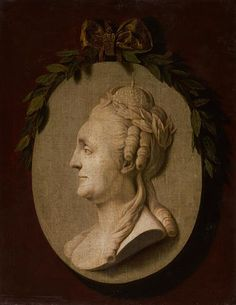 Profile portrait of Catherine II by anonymous (18th c,Russian museum).