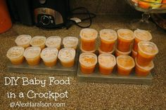 DIY Baby Food in a Crockpot. #homemade #healthy #babyfood http://www.alexharalson.com/2014/05/diy-baby-food-in-crockpot.html