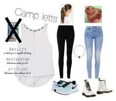 """""""Camp letts is coming"""" by isabellas-style ❤ liked on Polyvore featuring Rebecca Minkoff, G-Star, NIKE, Dr. Martens, Max Studio and Tasha"""