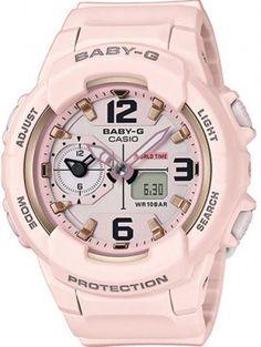 G-Shock Women's Analog-Digital Baby-g Pink Resin Strap Watch - Pink G Shock Watches, Sport Watches, Cool Watches, Analog Watches, Casio G-shock, Casio Watch, Baby G Shock, Casio Vintage, Pink Watch
